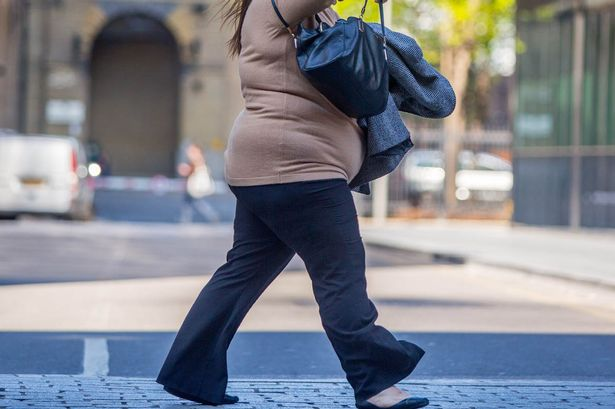An-overweight-woman-in-London