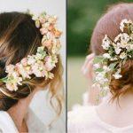 Foto: Cum porți florile în păr la nuntă?