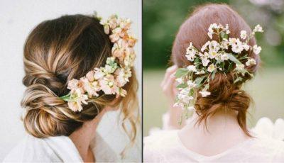 Cum porți florile în păr la nuntă?