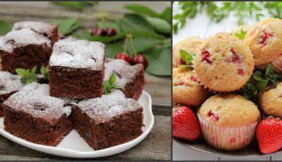 2 deserturi uşoare preparate din fructe de vară