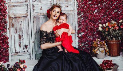 Exclusiv! Tatiana Heghea într-un pictorial regal, alături de fiica sa!