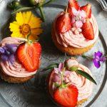 Foto: Cupcakes cu cremă de căpșuni!