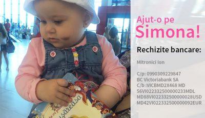 Salveaz-o pe Simona, o fetiţă de un an şi 2 luni, care suferă de leucemie!