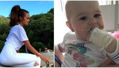 Xenia Deli a donat 30.000 de dolari unui copil bolnav de leucemie