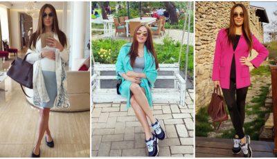 Cele mai stilate ținute ale graviduței Cristina Moldovanu!