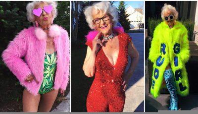 Cea mai excentrică bătrânică, chiar dacă are 87 de ani!