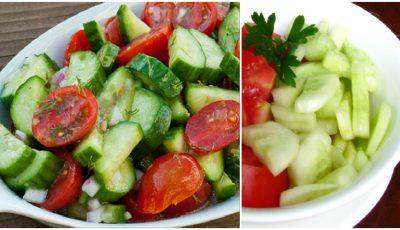 De ce să nu mănânci salata de roşii, combinată cu castraveţi