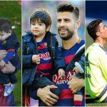 Foto: Cele mai frumoase poze cu copiii fotbaliștilor celebri, pe teren alături de tații lor