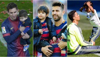 Cele mai frumoase poze cu copiii fotbaliștilor celebri, pe teren alături de tații lor