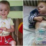 Foto: Marius, băieţelul care şi-a ars complet esofagul, are nevoie de ajutor!