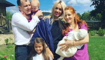 Aurel și Daniela Chirtoacă și-au creștinat fetița!