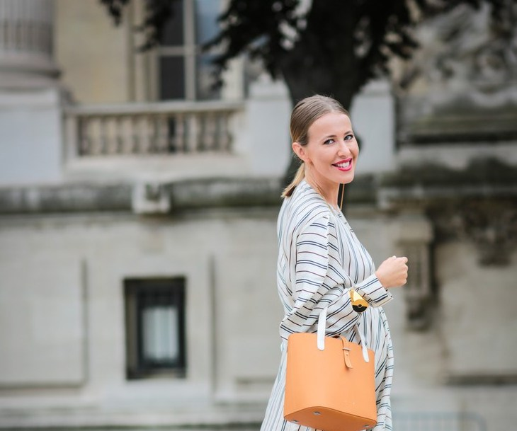 PARIS, FRANCE - JULY 05:  Kseniya Sobchak is seen, after the Chanel show, during Paris Fashion Week Haute Couture F/W 2016/2017, on July 5, 2016 in Paris, France.  (Photo by Edward Berthelot/Getty Images)