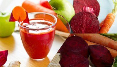 Suc de castraveţi, morcovi, sfeclă şi lămâie, benefic pentru detoxifiere, slăbire, reumatism şi diabet!