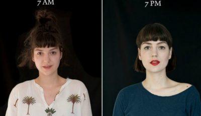Cât de diferit arată aceeași persoană dimineața și seara!