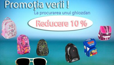 Cumpără-i copilului tău rechizite școlare și ghiozdan cu 10% reducere!