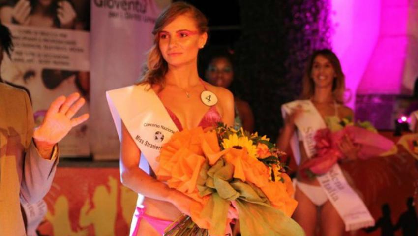 Foto: O moldoveancă a devenit Miss în Italia!