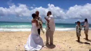 Foto: Mireasa spunea jurământul. Nuntașii au rămas fără cuvinte