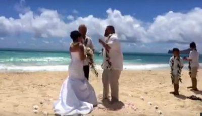 Mireasa spunea jurământul. Nuntașii au rămas fără cuvinte