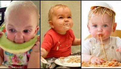 20 de poze amuzante cu cei mai ,,flămânzi'' bebeluşi! Urmăreşte-le şi te încarcă cu bună dispoziţie