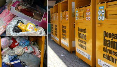 Boxele din capitală, amenajate pentru colectarea donaţiilor, încărcate de bunuri! Şi tu îi poţi ajuta pe cei nevoiaşi