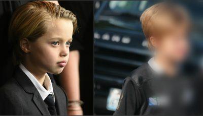 Shiloh Jolie Pitt, tunsă şi îmbrăcată ca un băieţel, pe stradă!