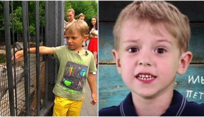 Un băieţel în vârstă de numai cinci ani, angajat la grădina zoo din Moscova!
