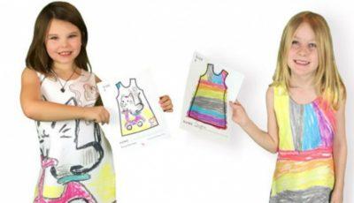 S-a făcut designer datorită fiicelor ei. Jaimee Newberry face rochii după schițele celor mici