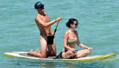 Orlando Bloom, surprins nud alături de Katy Perry