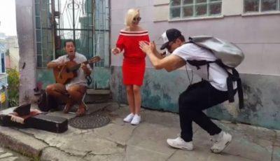 Polina Gagarina și Dima Bilan cântă pe străzile din Rio de Janeiro!