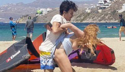 Lindsay Lohan, agresată de iubitul rus chiar pe plajă, în văzul lumii