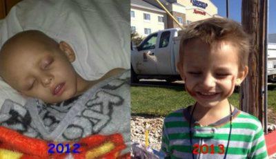 Copil de 3 ani, vindecat de leucemie cu ulei de canabis!