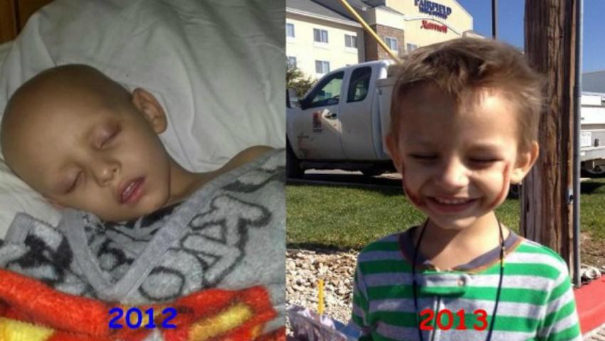Foto: Copil de 3 ani, vindecat de leucemie cu ulei de canabis!