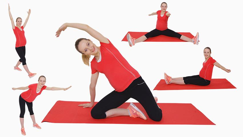 Foto: 5 exerciții pentru graviduțele ocupate