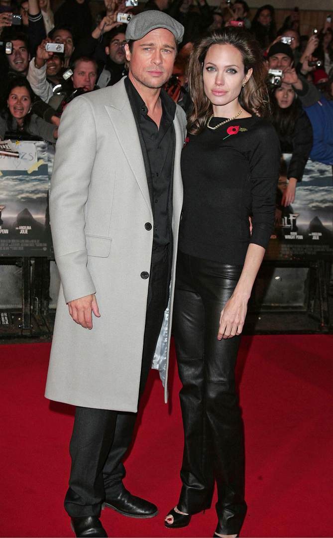 Brad Pitt and Angelina Jolie arriving at the UK film premiere of Beowulf which was held at the Vue Cinema Leicester Square on November 11, 2007 in London, England. Beowulf - UK Film Premiere Vue Leicester Square, London, WC2 London,  United Kingdom November 11, 2007 Photo by Fred Duval/FilmMagic.com To license this image (50971598), contact FilmMagic: U.S. +1-212-812-4100 / U.K. +44-207-659-2813 / Australia +61-2-9006-1785 / Japan: +81-3-5464-7020 +1 212-202-7732 (fax) sales@filmmagic.com (e-mail) www.filmmagic.com (web site) vue leicester square, london, wc2 contributing photographer united kingdom call u.s. +1-212-812-4100 / u.k. +44-207-659-2813 / australia +61-2-9006-1785 / japan: +81-3-5464-7020 or e-mail sales@filmmagic