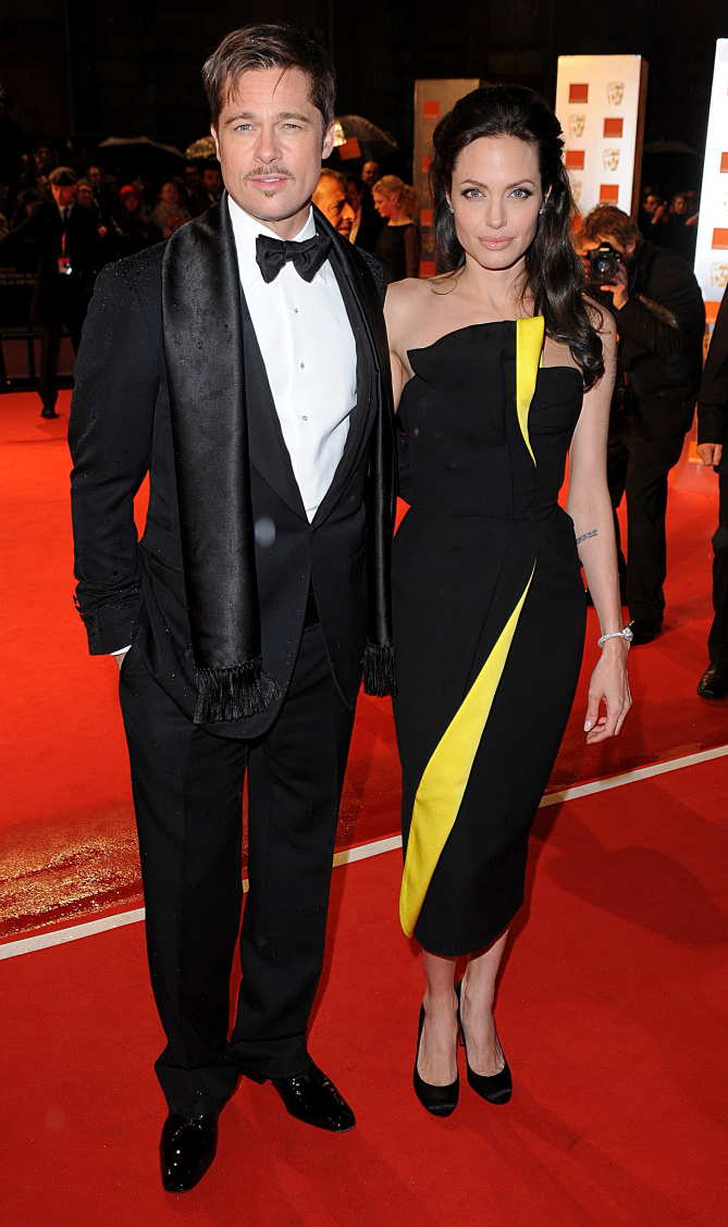 Image #: 7052210    Brad Pitt and Angelina Jolie arriving for the 2009 British Academy Film Awards at the Royal Opera House in Covent Garden, central London.   PA Photos /Landov bafta awards 2009 - london  bafta awards