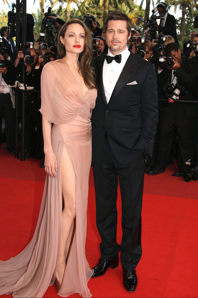 """05/20/2009. Brad Pitt and Angelina Jolie on the red carpet for the movie """"Inglourious Basterds"""". 62nd Cannes Film Festival 2009. Picture shows: Brad Pitt, Angelina Jolie"""