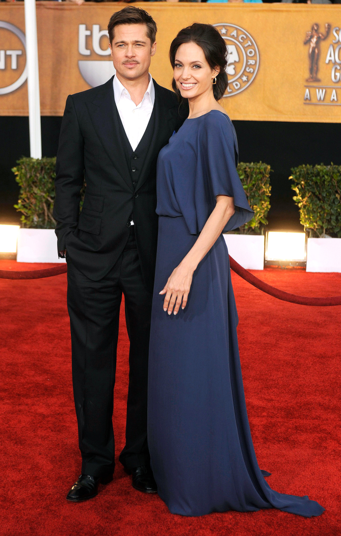 ©2009 RAMEY PHOTO 310-828-3445 Brad Pitt and Angelina Jolie attend the Screen Actors Guild Awards held in Los Angeles on January 25, 2009. PM 15th annual sag awards held in los angeles  15th annual sag awards held in los angeles