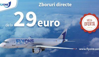 De astăzi, FLY ONE oferă bilete de avion de la 29 euro