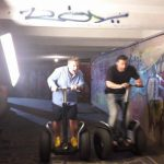 Foto: Smiley și Pavel Bartoș, într-o subterană din Chișinău