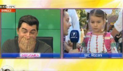 Bogdan Dascăl, emoționat până la lacrimi. Fiica lui merge în clasa 1