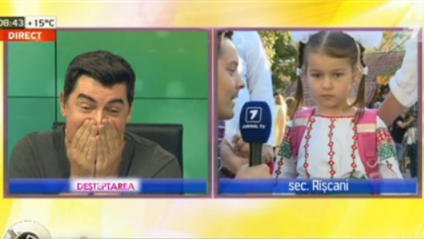 Foto: Bogdan Dascăl, emoționat până la lacrimi. Fiica lui merge în clasa 1