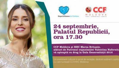 Valentina Nafornița, Natalia Barbu și Cătălin Josan vor cânta la Gala Generozității din acest an!