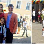 Foto: Corina Țepeș și Costi Burlacu au fată mare. Smaranda a mers în clasa întâi