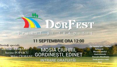 Festivalul DOR FEST e la prima ediție. Iată ce surprize îți pregătesc organizatorii
