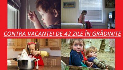 Părinții sunt contra vacanței de 42 de zile în grădinițe. Au făcut și o petiție