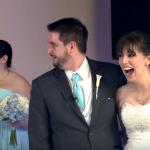 Foto: Mirele și mireasa s-au trezit cu un invitat surpriză în ziua nunții