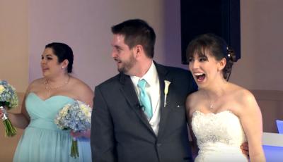 Mirele și mireasa s-au trezit cu un invitat surpriză în ziua nunții