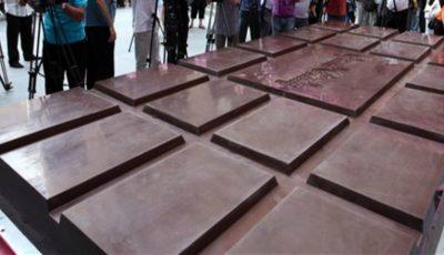 Cea mai mare ciocolată din lume a fost fabricată în Slovenia!