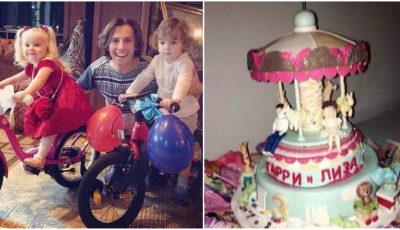 Poze! Ala Pugaciova şi Maxim Galkin au sărbătorit aniversarea gemenilor