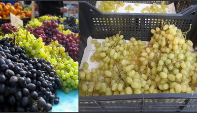 Consumatori înşelaţi! Struguri importaţi din Turcia, vânduţi în Moldova ca produse autohtone